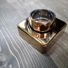 قالپاق کشویی شیر فلت طلایی